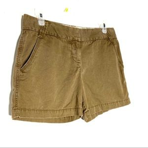 J Crew Classic Twill Chino Shorts City Fit Size 4